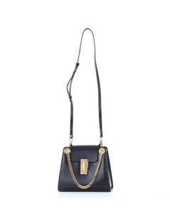 Chloèmini Annie shoulder bag in shiny calfskin