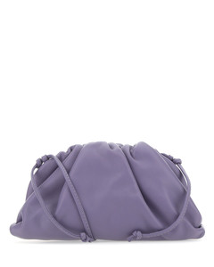 Lilac nappa leather mini The Pouch crossbody bag