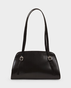 Lora Bag In Black Semi Patent Leather