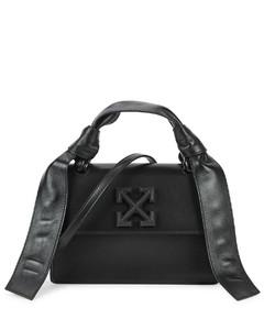 Jitney 1.4 black leather top handle bag
