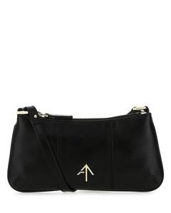 Black leather mini Pita shoulder bag
