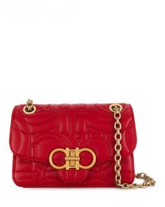 Gancini Leather Bag