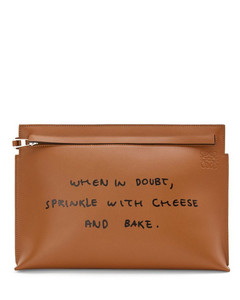Leather Words T Pouch