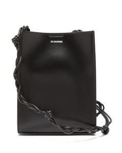 Tangle small silver-logo leather shoulder bag