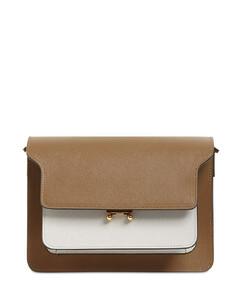 Medium Trunk Saffiano Shoulder Bag