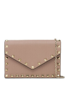 Rockstuds Leather Envelop Shoulder Bag