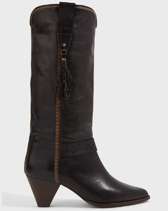 Dulma Scrunched Leather Boots