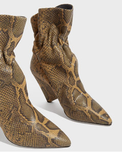 Lileas Snake-Effect Leather Ankle Boots