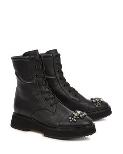 Hadley embellished leather ankle boots