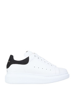 H283 white and black leather sneakers
