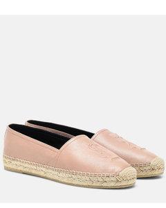 Monogram皮革草编鞋