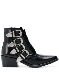 AJ006真皮搭扣及踝靴