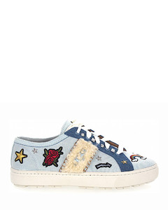 Sneakers W PATCH IT denim Logo blue-combo