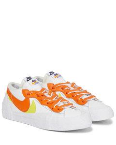 x sacai Blazer Low皮革运动鞋