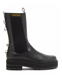 Logo-jacquard leather Chelsea boots