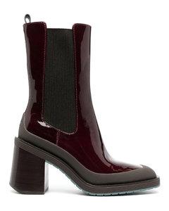 紫色Wooden Sole凉鞋
