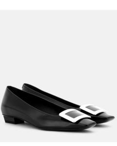 Belle Vivier漆皮芭蕾舞平底鞋