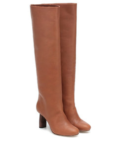 Leas Suede-Leather Knee-High Boots