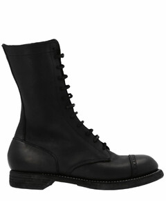 Laced Up Mid-Calf Boots
