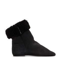 黑色Rullee剪羊毛踝靴