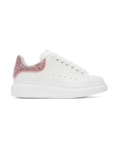白色亮片阔型运动鞋