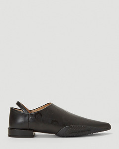 Babouche Flats in Black