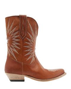 Franne皮革及膝靴