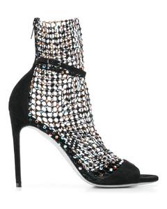 网纱串珠凉鞋
