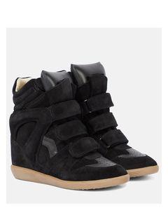 Bekett皮革和絨面革運動鞋