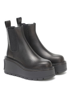 Garavani Uniqueform皮革防水台及踝靴