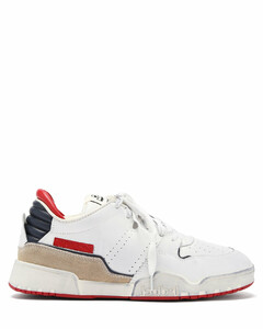 Emree aged-effect leather trainers