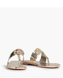 黑色PVC透明鞋底涼鞋
