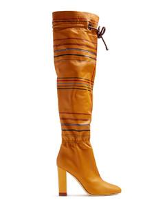 X Roksanda Kendas striped leather boots