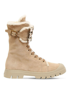 25mm Walkyviv Suede & Shearling Boots