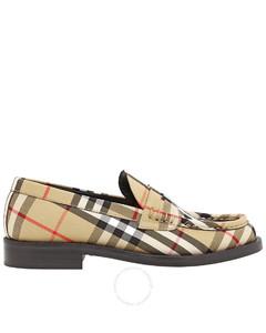 Ladies Vintage Check Camel Bedmont Loafer