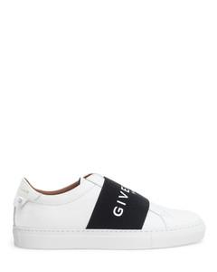 Urban street white logo sneakers