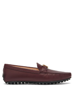 Gommino logo-plaque leather loafers