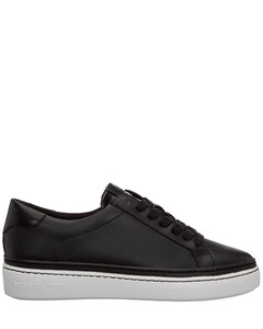 Sneakers Oversize In Black Leather And White Sole