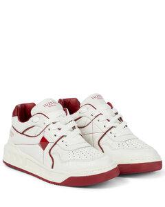 One Stud皮革运动鞋