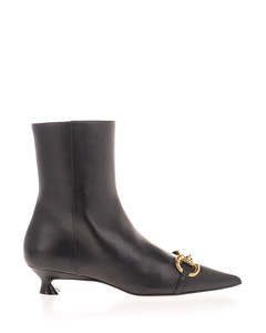 Horsebit ankle boots in black