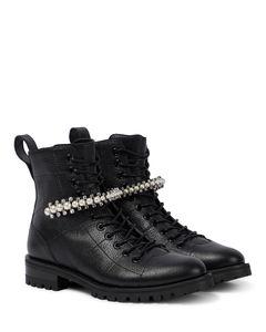 Cruz embellished leather combat boots