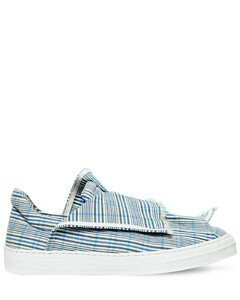 20mm Layered Check Canvas Sneakers