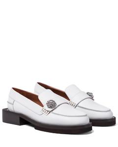 Lighter-heel leather ballerina pumps
