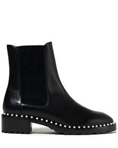 Woman Ashlyn Embellished Leather Chelsea Boots