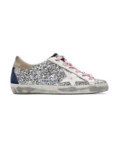 银色&白色Superstar亮片运动鞋