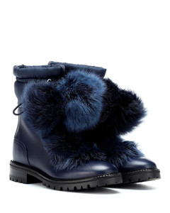 Glacie leather and fur boots