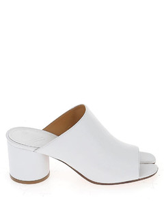 Women's Leather Heeled Ankle Boots - Black