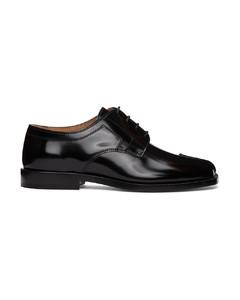 黑色Tabi系带德比鞋