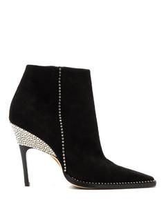 Brecken 100 crystal-embellished suede ankle boots