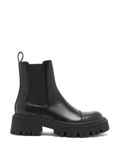 Tracker lug-sole leather Chelsea boots